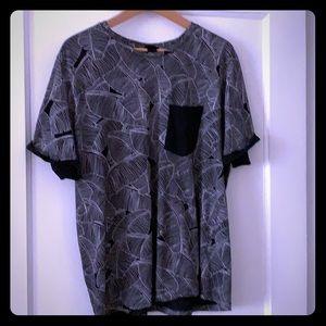 H @ M men's print t shirt
